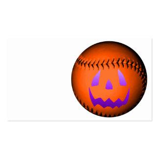 Béisbol de Halloween Tarjeta De Negocio