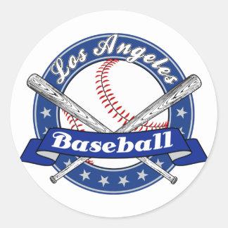 Béisbol de Los Ángeles Etiquetas Redondas