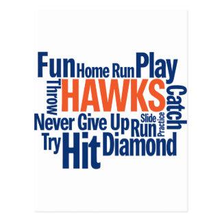 Béisbol de los halcones postal