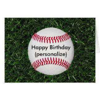Béisbol del feliz cumpleaños tarjeta de felicitación