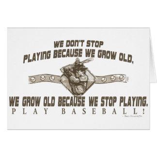 Béisbol del juego tarjeta de felicitación