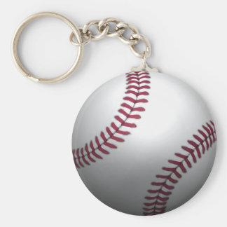 Béisbol - efecto 3D Llavero Redondo Tipo Chapa