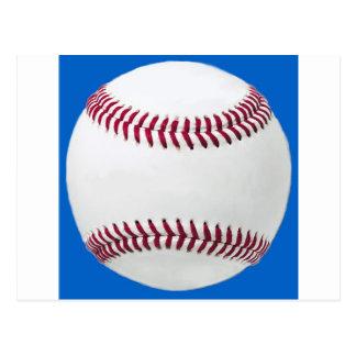 Béisbol en azul postal