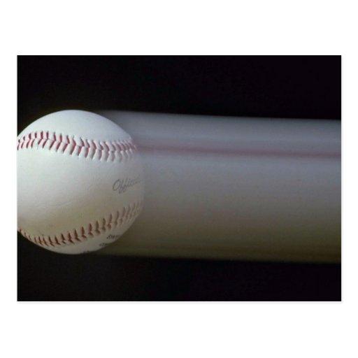 Béisbol en el movimiento tarjetas postales