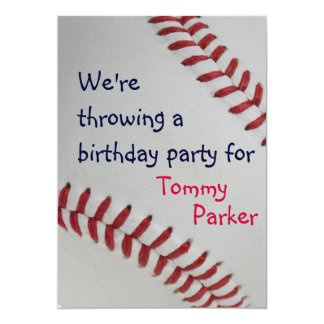 Béisbol Fan-tastic_sports - fiesta de cumpleaños Invitación 12,7 X 17,8 Cm