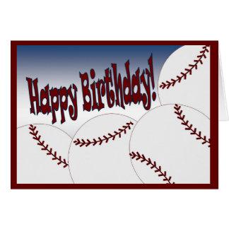 ¡Béisbol - feliz cumpleaños de la fan más grande! Tarjeta De Felicitación