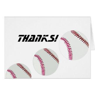 ¡Béisbol-Gracias! Tarjeta Pequeña
