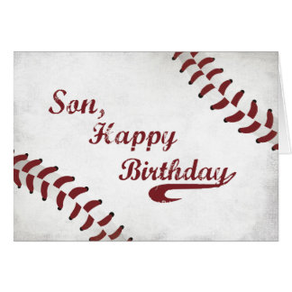 Béisbol grande del Grunge del cumpleaños del hijo, Tarjeta De Felicitación