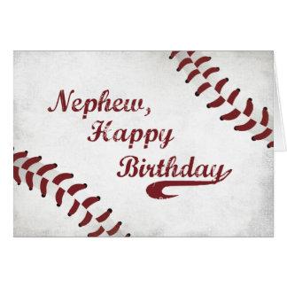 Béisbol grande del Grunge del cumpleaños del Tarjeta De Felicitación