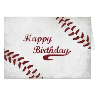 Béisbol grande del Grunge del cumpleaños, general Tarjeta De Felicitación