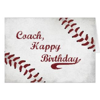 Béisbol grande del Grunge del feliz cumpleaños del Tarjeta De Felicitación