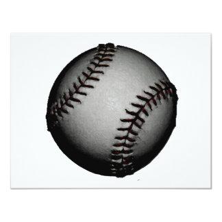 Béisbol gris/gris invitación 10,8 x 13,9 cm