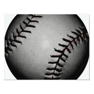 Béisbol negruzco y gris/gris invitación 10,8 x 13,9 cm