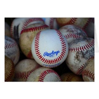 Béisbol Notecard en blanco Tarjeta Pequeña