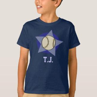 Béisbol personalizado (cualquier nombre) camiseta