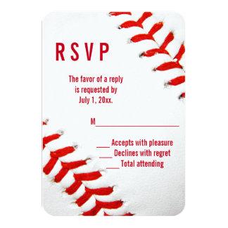 Béisbol que casa RSVP Invitación 8,9 X 12,7 Cm