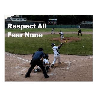 Béisbol: Respete toda la postal