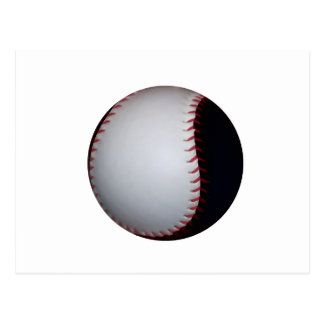 Béisbol/softball blancos y negros postal
