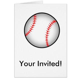 ¡béisbol, su invitado! tarjeta de felicitación
