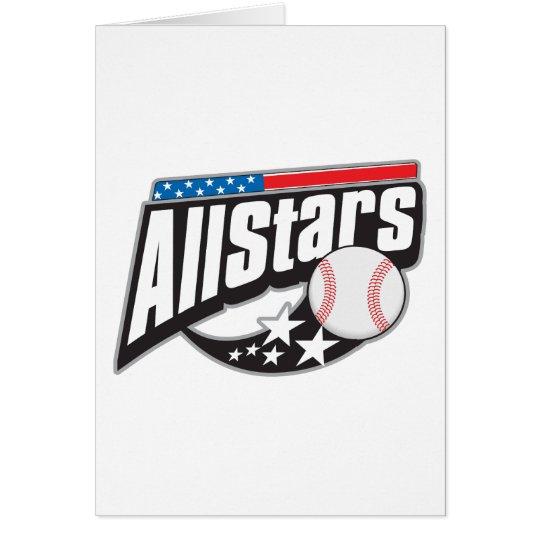 Béisbol todas las estrellas tarjeta de felicitación
