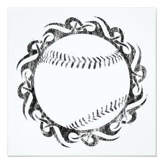 béisbol tribal invitación 13,3 cm x 13,3cm