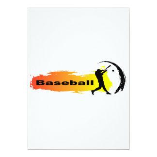 Béisbol único invitación 12,7 x 17,8 cm