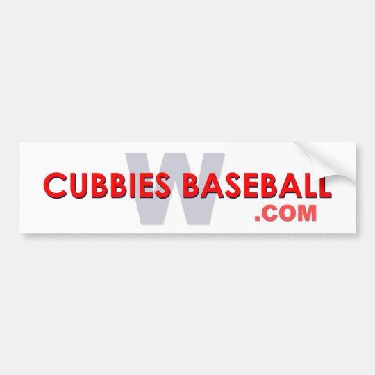 Béisbol W de los Cubbies Pegatina Para Coche