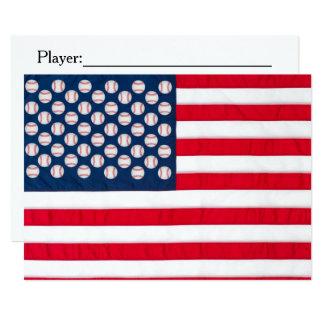 Béisbol y invitación de la bandera americana