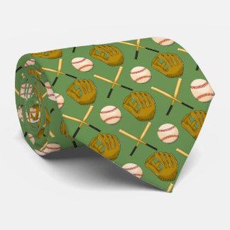 Béisbol y lazo del palo corbata personalizada