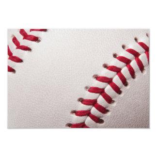 Béisboles - plantilla del fondo del béisbol del invitación 8,9 x 12,7 cm