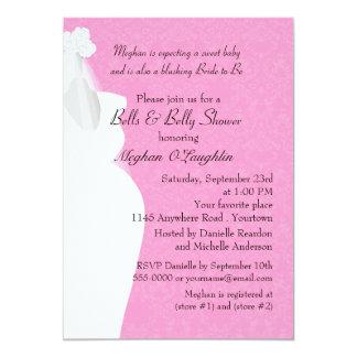 Belces y Belly nupciales y fiesta de bienvenida al Invitación 12,7 X 17,8 Cm