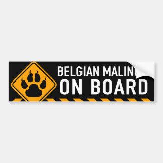 Belga Malinois a bordo Pegatina Para Coche