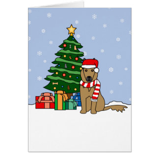 Belga Tervuren y árbol de navidad Tarjeta