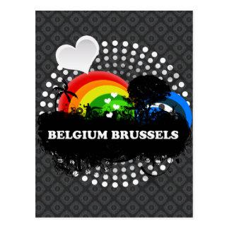 Bélgica con sabor a fruta linda Bruselas Postal