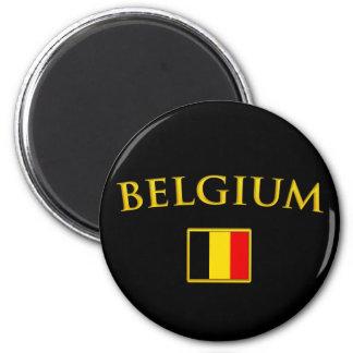 Bélgica de oro imán redondo 5 cm