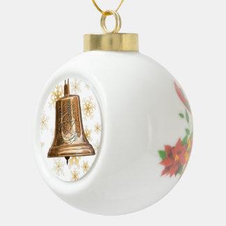 Bell de bronce con el pentáculo y la guirnalda - o adornos