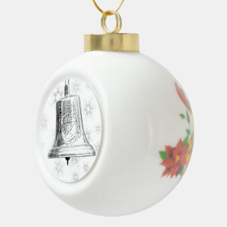 Bell de plata con el pentáculo y la guirnalda - or
