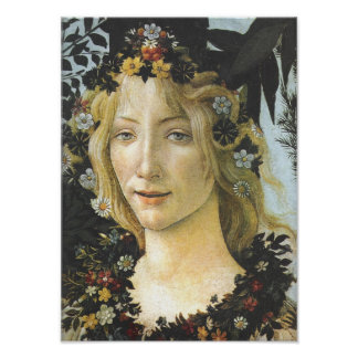 Bella arte de Botticelli de la flora (detalle de
