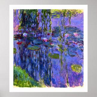 Bella arte de Claude Monet de las reflexiones de