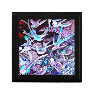 Bella arte del colibrí caja de regalo
