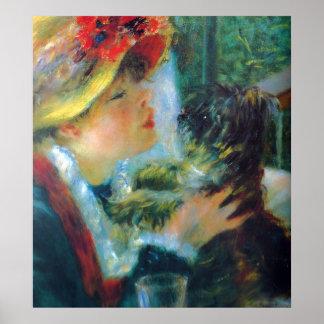 Bella arte del impresionismo de Renoir del chica y