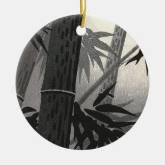 Bella arte del japonés del bambú y de Sun de Adorno Redondo De Cerámica