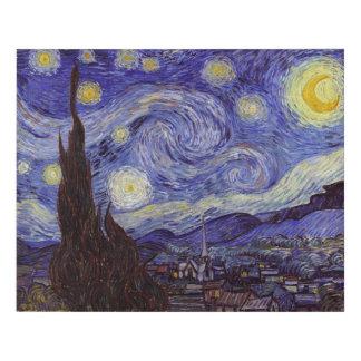 Bella arte del vintage de la noche estrellada de