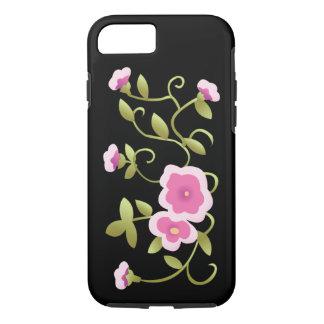 Bella arte floral china rosada hermosa funda para iPhone 8/7