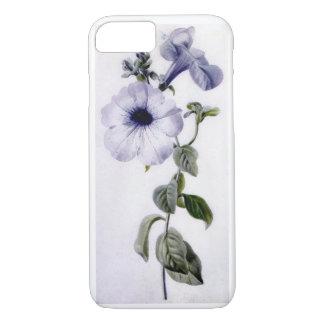 Bella arte floral del vintage de la petunia de funda iPhone 7