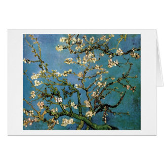 Bella arte floreciente de Van Gogh del árbol de Tarjeta