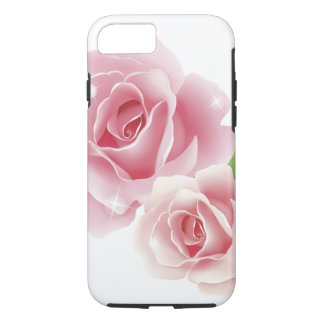 Bella arte retra femenina linda de la flor color funda para iPhone 8/7