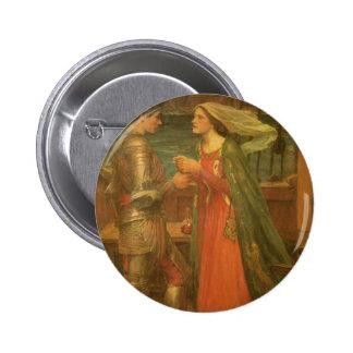 Bella arte, Tristan e Isolda del vintage por el Chapa Redonda De 5 Cm