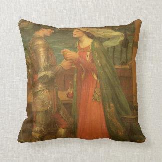 Bella arte, Tristan e Isolda del vintage por el Cojin