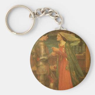 Bella arte, Tristan e Isolda del vintage por el Llavero Redondo Tipo Chapa